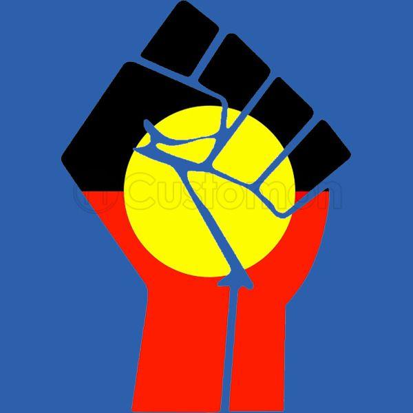Raised Fist Aboriginal Flag Apron Customon