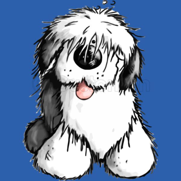 Bobbie Old English Sheepdog Kids Tank Top - Customon