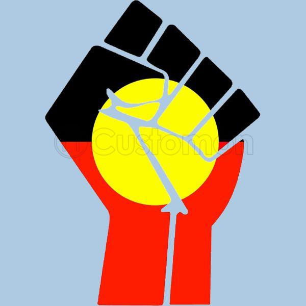 Raised Fist - Aboriginal Flag Baby Bib - Customon