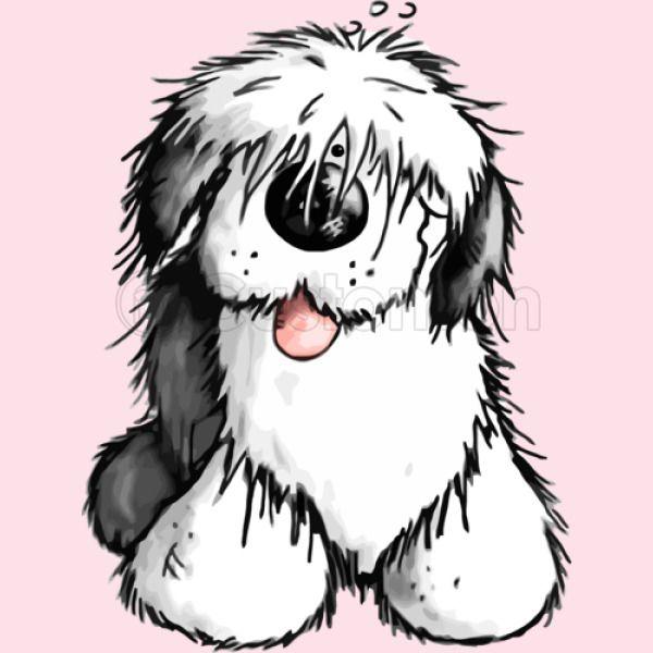 Bobbie Old English Sheepdog Baby Bib - Customon