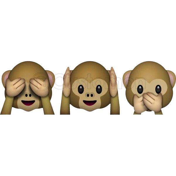 Funny Monkey Emoji - See no evil, hear no evil, speak no evil Coffee