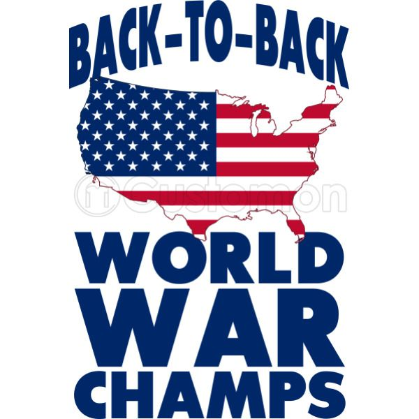371262d51b1 Back to back world war champions Women s T-shirt - Customon