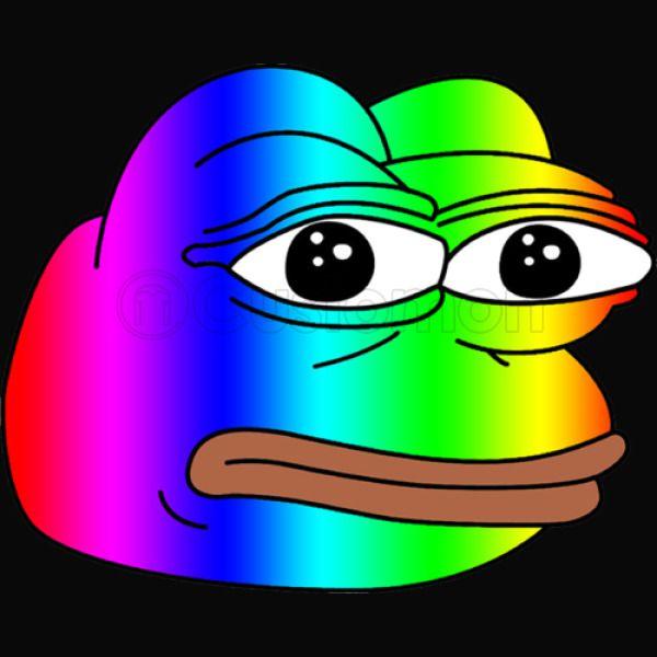 Pepe Meme Frog Rainbow Unisex Hoodie Customoncom