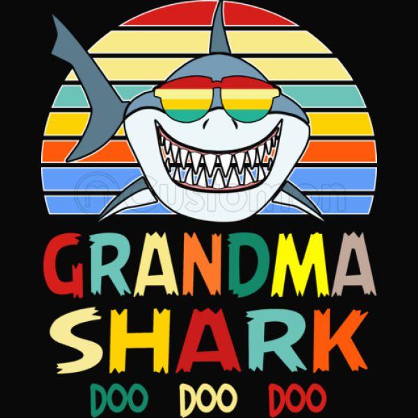 Retro Vintage Grandma Shark Tshirt Women's Racerback Tank ...