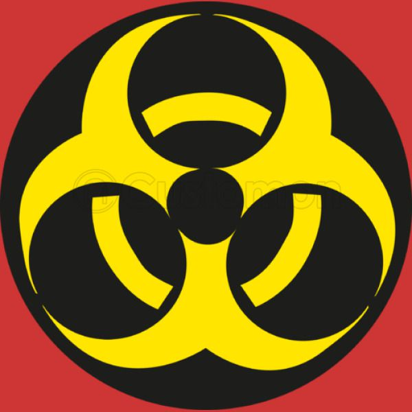 Biohazard Symbol Knit Cap Embroidered Customon