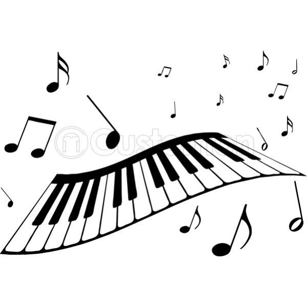 piano keyboard music notes beat it video apron