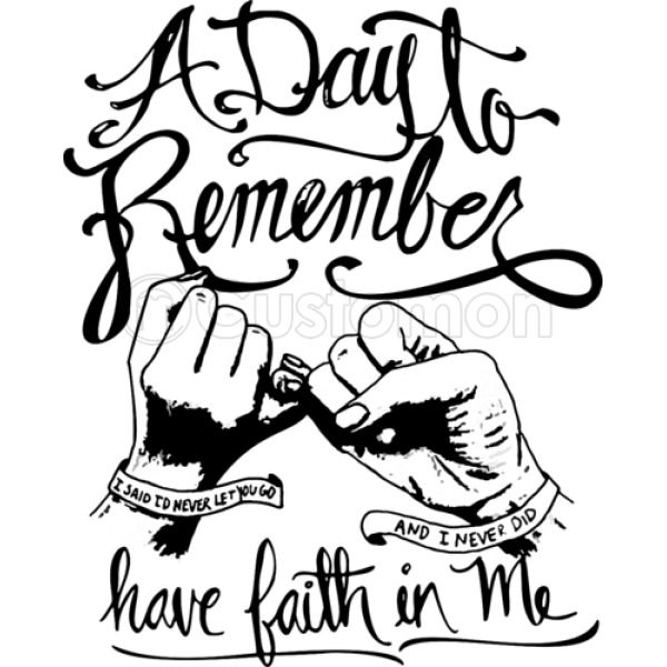 a day to remember have faith in me apron customon Faith Knitted Hats a day to remember have faith in me