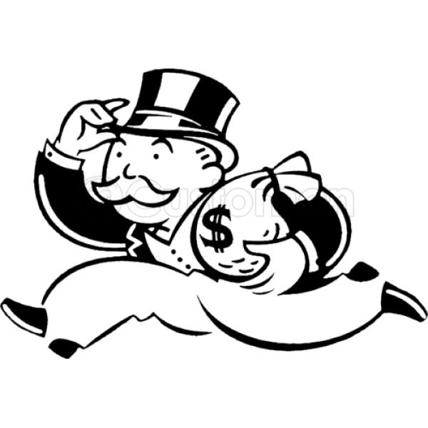 This is a graphic of Juicy Monopoly Man Drawing