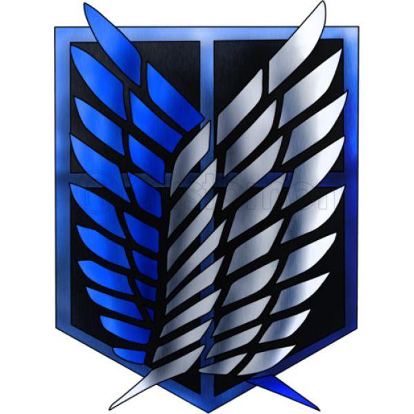 Attack On Titan blue silver logo Apron   Customon.com