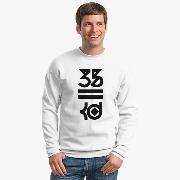 948068db Kevin Durant 35 Kd Black Logo Crewneck Sweatshirt - Customon