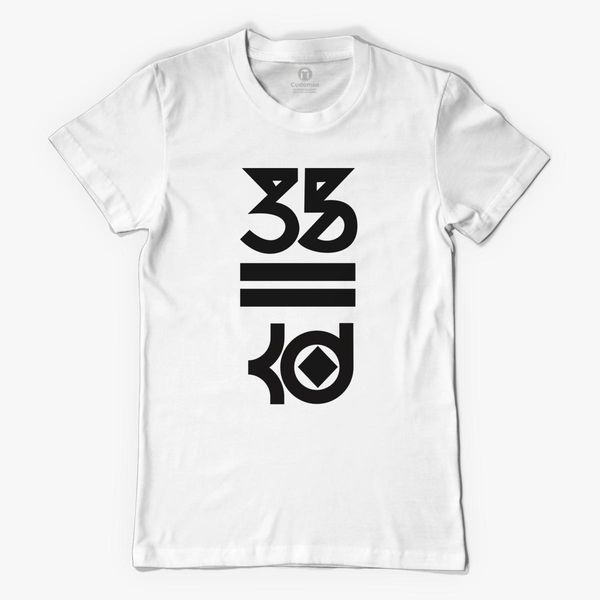 afe9f3684bc Kevin Durant 35 Kd Black Logo Women s T-shirt - Customon