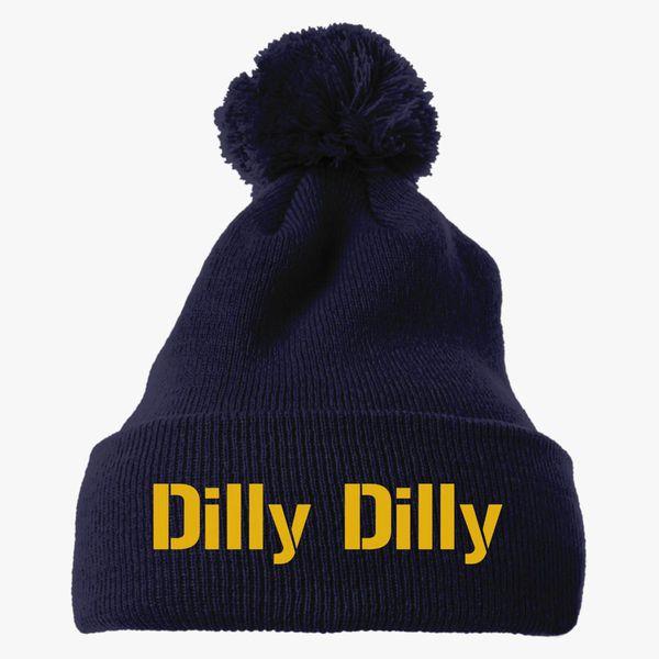 61ad99b6c3a63 dilly dilly bud light Knit Pom Cap - Customon