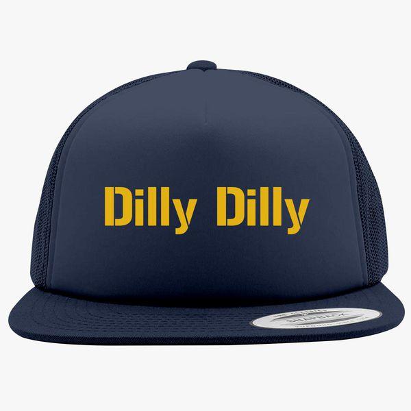 9c8c453e1f1eb dilly dilly bud light Foam Trucker Hat - Customon