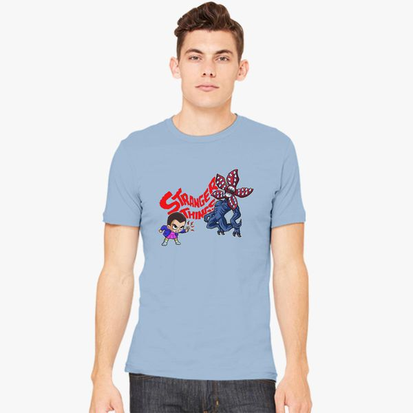 5040f401 Stranger Things Carton Eleven vs Demogorgon Men's T-shirt - Customon