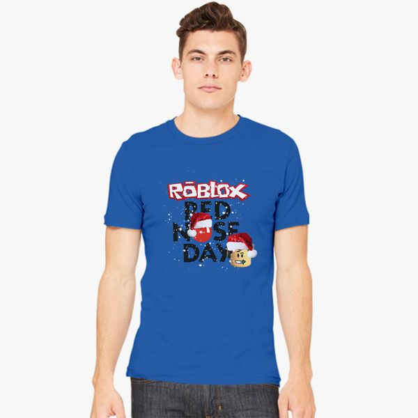 Roblox Christmas Design Red Nose Day Mens T Shirt Customon - roblox christmas design red nose day womens t shirt customon