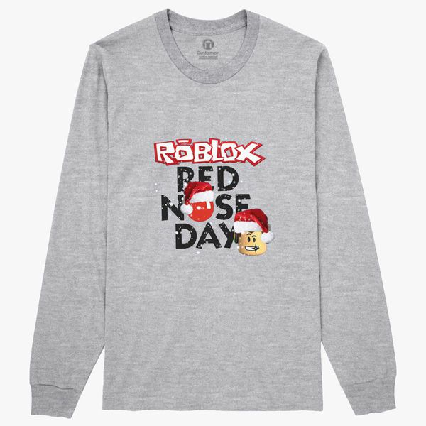 Roblox Christmas Design Red Nose Day Long Sleeve T Shirt - roblox christmas design red nose day womens t shirt customon