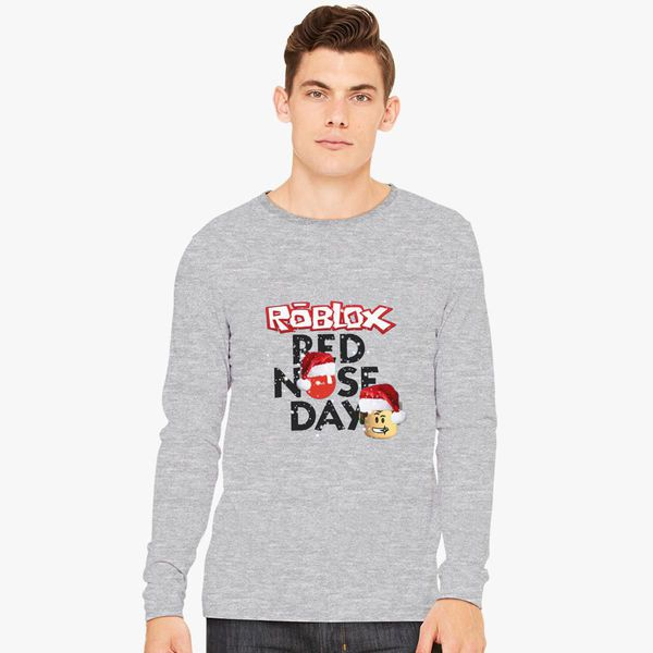 Roblox Oof Roblox Long Sleeve T Shirt By Avemathrone Roblox Christmas Design Red Nose Day Long Sleeve T Shirt Customon