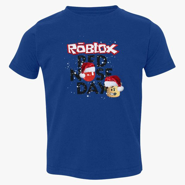 Roblox Christmas Design Red Nose Day Toddler T Shirt Customon