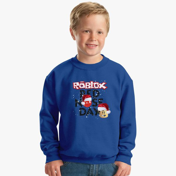 Roblox Christmas Design Red Nose Day Kids Sweatshirt Customon - roblox christmas design red nose day womens t shirt customon