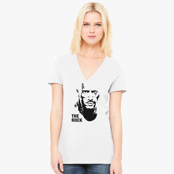 8fb818865e1 The Rock Dwayne Johnson Art Women s V-Neck T-shirt - Customon