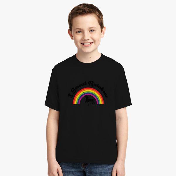 69ecf668522366 I Sweat Rainbow Unicorn Youth T-shirt - Customon