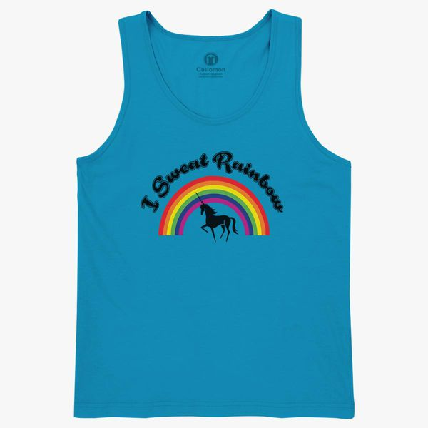4036a176b29ff7 I Sweat Rainbow Unicorn Kids Tank Top - Customon