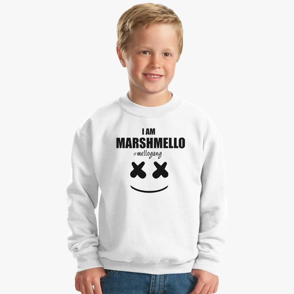 64cdcec7 Marshmello The Dj I am Marshmello Mellogang Kids Sweatshirt ...