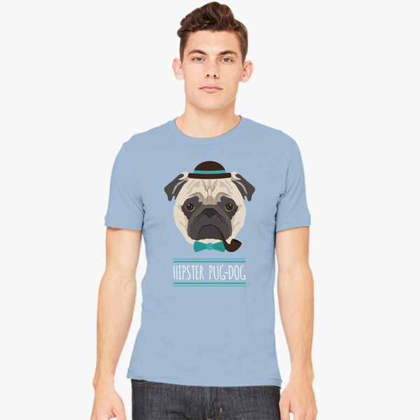 e391d2c4 Hipster Pug Dog Men's T-shirt - Customon