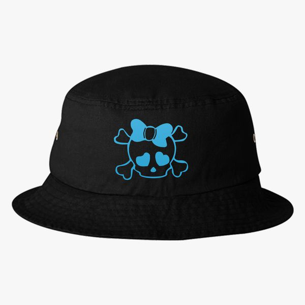 SKULL WITH BOW Bucket Hat  ff94a74bd9a