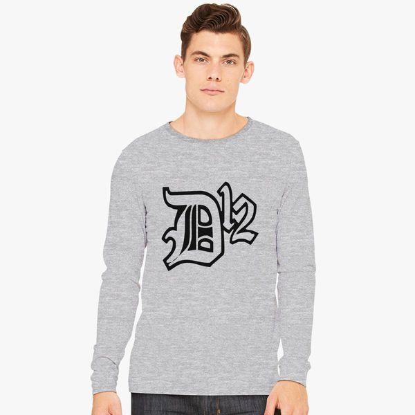 5ba42b0d552 D12 Rap Hip Hop Music Classic Logo Long Sleeve T-shirt