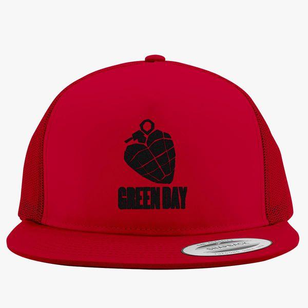 f57da53f904c5 Green Day - Black Trucker Hat (Embroidered) - Customon