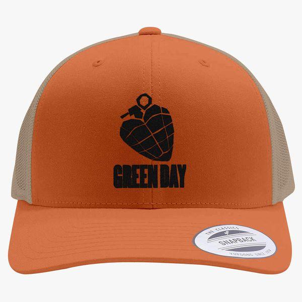 290eac4856158 Green Day - Black Retro Trucker Hat (Embroidered) - Customon
