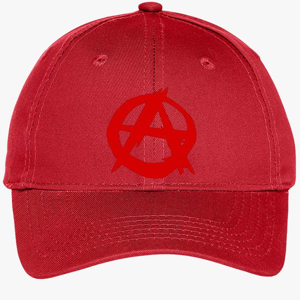 29f1bf5f Anarchy Symbol Youth Six-Panel Twill Cap (Embroidered) - Customon