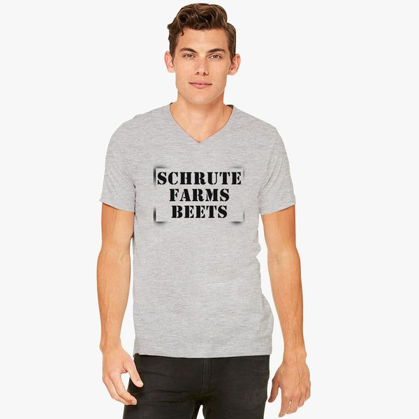 e1c1a887b Schrute Farms Beets V-Neck T-shirt - Customon