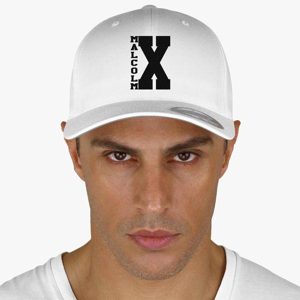 timeless design d65a8 a664e Malcolm X Logo Black Baseball Cap - Embroidery