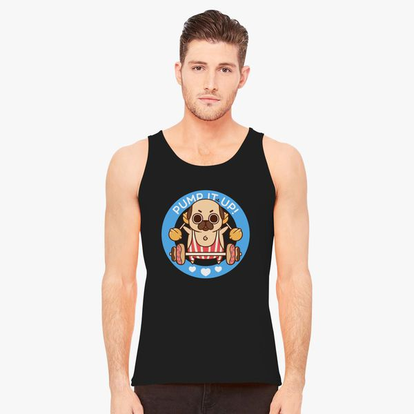 66d8e39b4e04a Pum it Up Pug Training with Donuts Men s Tank Top - Customon