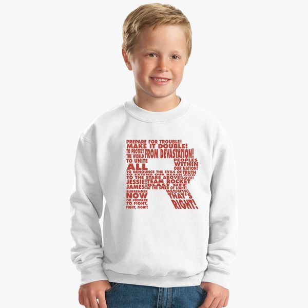 32e15232 Team Rocket Kids Sweatshirt - Customon