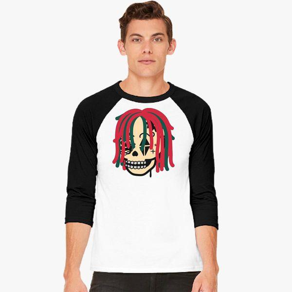 bf10acab5b3c Gucci Gang Skull Logo Baseball T-shirt - Customon
