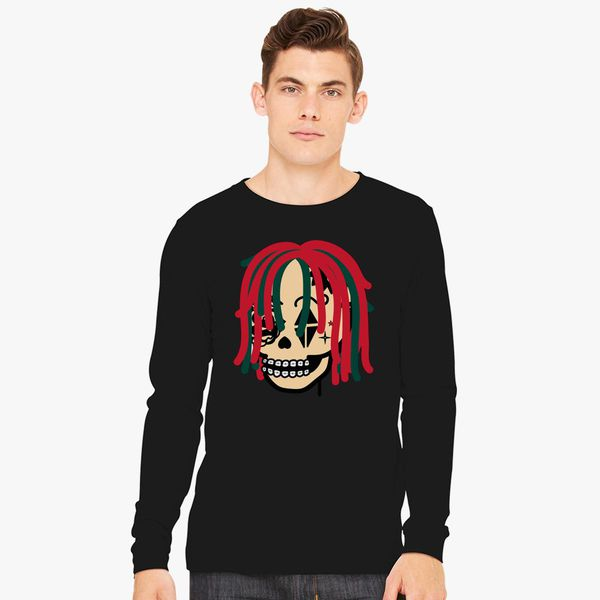 2ac5cc69cde Gucci Gang Skull Logo Long Sleeve T-shirt - Customon