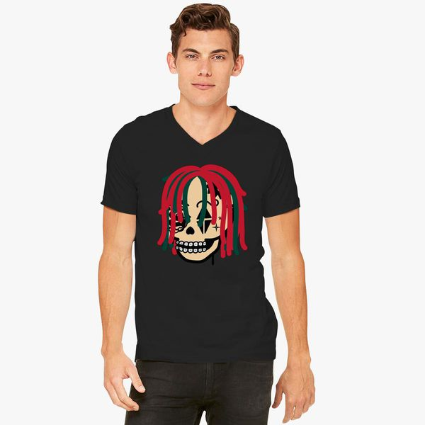 8a1d1d144 Gucci Gang Skull Logo V-Neck T-shirt - Customon