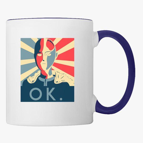One Punch Man Ok Coffee Mug Customon