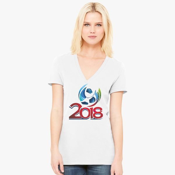 2e3fbe7c0 Fifa World Cup Russia 2018 Women s V-Neck T-shirt - Customon