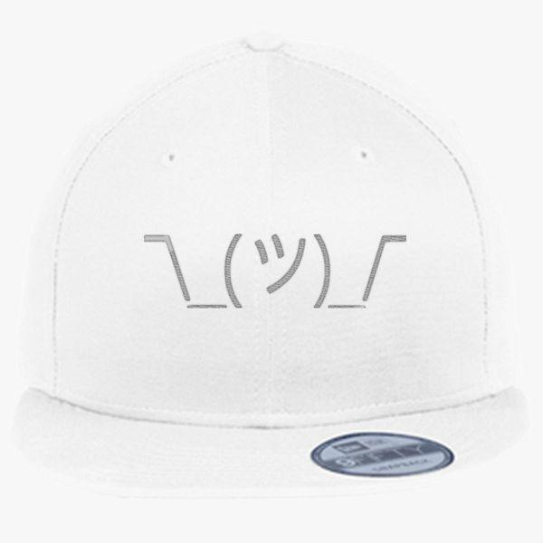 346267677 Shrug Emoticon New Era Snapback Cap (Embroidered) - Customon