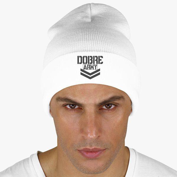 9ee93e38127 Dobre Twins Dobre Army Black Knit Cap (Embroidered) - Customon