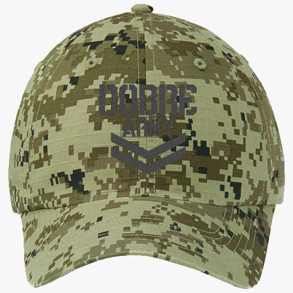 7bebbf95e99 Dobre Twins Dobre Army Black Ripstop Camouflage Cotton Twill Cap -  Embroidery