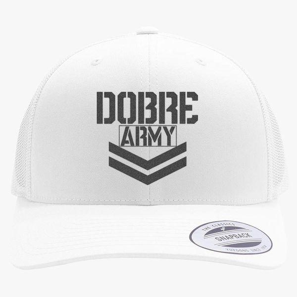 7fa650610b5da Dobre Twins Dobre Army Black Retro Trucker Hat (Embroidered ...