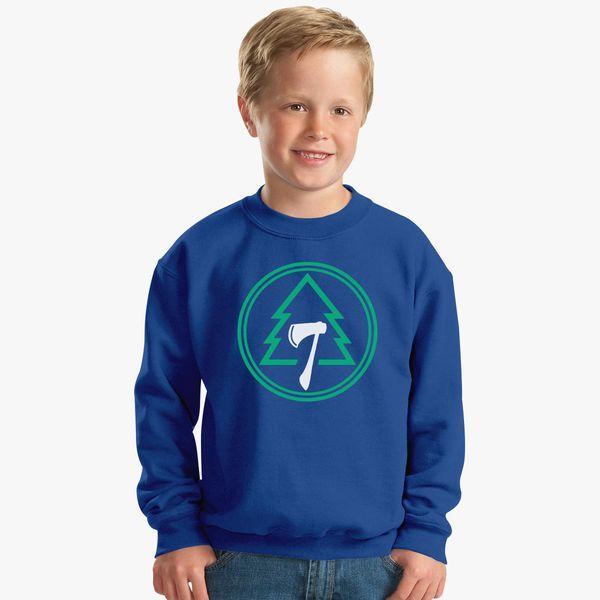 8d229f4f56e494 SUGAR PINE 7 LOGO BLACK Kids Sweatshirt - Customon