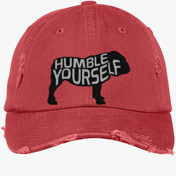 d6ba638aea6 UGA Humble Yourself Shirt  Bulldog Distressed Cotton Twill Cap - Embroidery