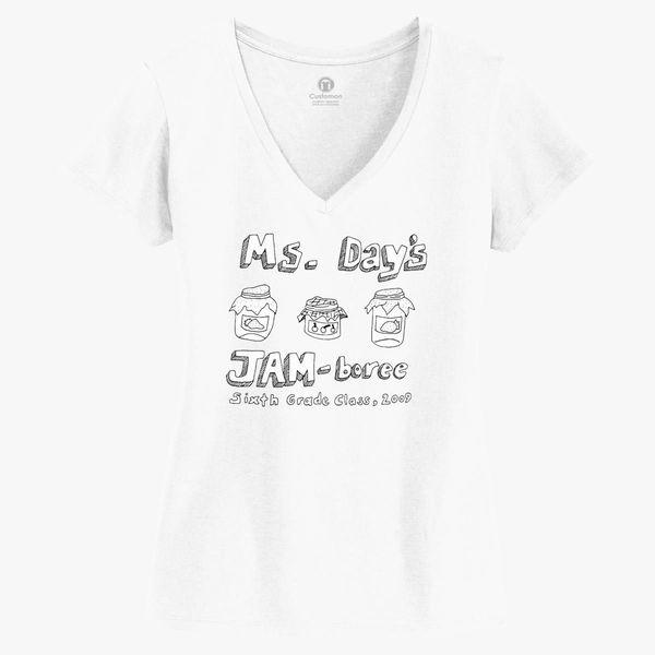 3cbea56bf04f Ms. Day's Jam-boree 2009 - New Girl Women's V-Neck T-shirt - Customon