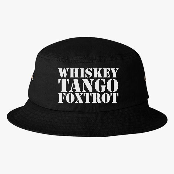 46bafa4c788 Whiskey Tango Foxtrot WTF Military Phonetic Alphabet Bucket Hat - Embroidery